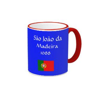 São João* a Dinamarca caneca de café de Madeira,