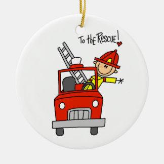 Sapador-bombeiro aos t-shirt e aos presentes do sa enfeite