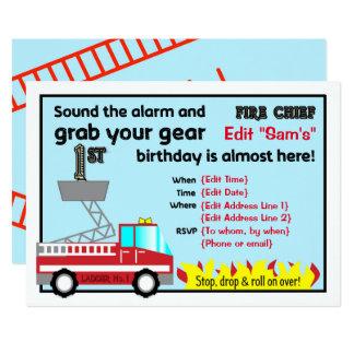 Sapador-bombeiro dos convites de festas do