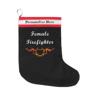 Sapador-bombeiro fêmea bota de natal grande