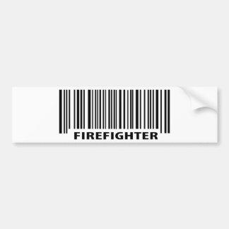 sapador-bombeiro no dever adesivo para carro