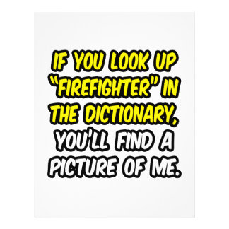 Sapador-bombeiro no dicionário… minha imagem panfletos personalizado