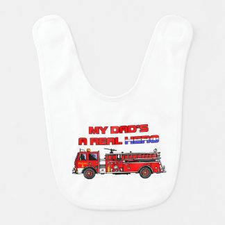 Sapador-bombeiro real do herói babadores infantis