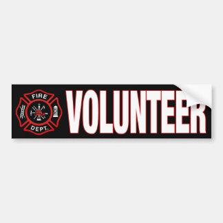 Sapador-bombeiro voluntário adesivo para carro