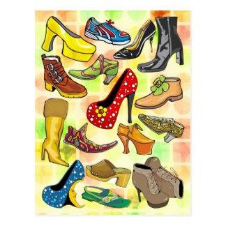 Sapatos femininos cartão postal