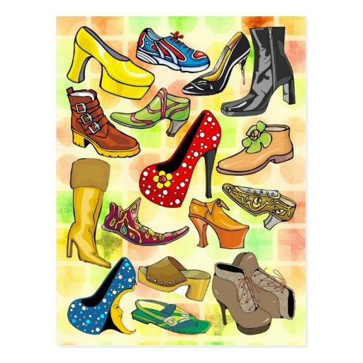 Sapatos femininos cartao postal