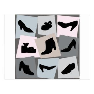 Sapatos femininos - saltos altos da forma cartao postal