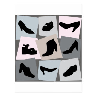Sapatos femininos - saltos altos da forma cartão postal