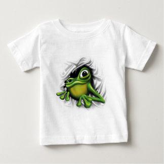 Sapo 3d legal camiseta para bebê