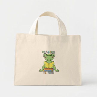 Sapo - a leitura é camiseta e presentes do diverti bolsa tote mini