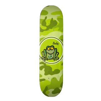 Sapo; camo verde-claro, camuflagem skates personalizados