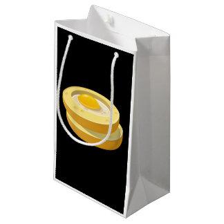 Sapo da comida do pulso aleatório em um furo sacola para presentes pequena