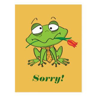 Sapo de desculpa cartão postal