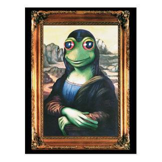 Sapo de Mona Lisa do cartão