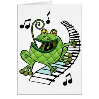 Sapo do jazz cartão comemorativo