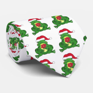 Sapo do papai noel - laço gravata
