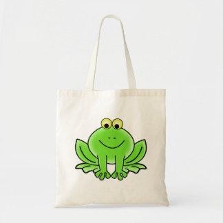 Sapo dos desenhos animados bolsas