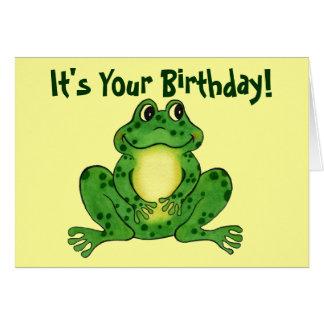 Sapo Hoppy - cartão de aniversário das crianças