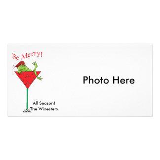 Sapo tipsy-tini's cartão com foto