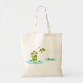 Sapos bonitos - mamã do kawaii e desenhos animados bolsas