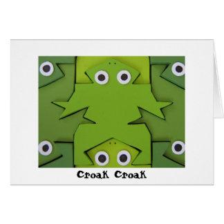 Sapos, cartão de aniversário do Croak do Croak