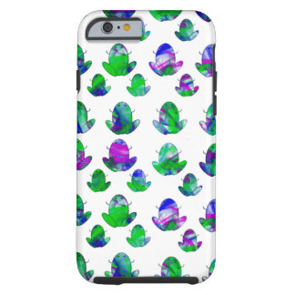 Sapos coloridos bonitos capa tough para iPhone 6