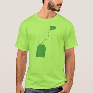 Saquinho de chá, copo do ensaque de T, chá verde, Camiseta