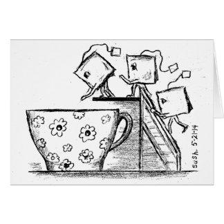 Saquinhos de chá -- Cartão de nota