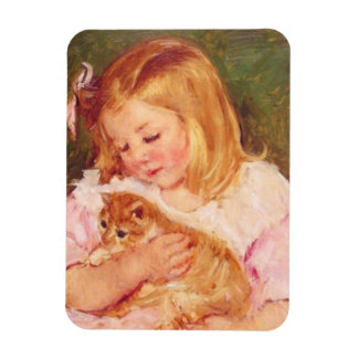 Sara e seu ímã da foto do gatinho