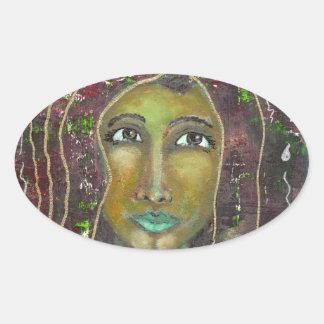 Sarah feminino divina adesivo oval