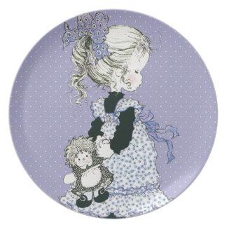 Sarah Kay ama a lavanda da placa da melamina do Prato De Festa