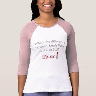 Sarah Palin e pitbull - camisa do Raglan