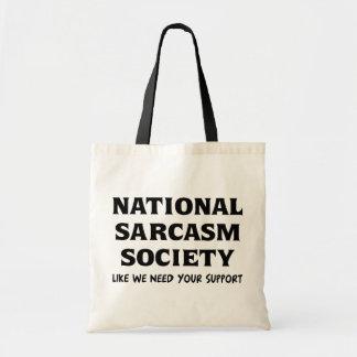 Sarcasmo nacional sacola tote budget