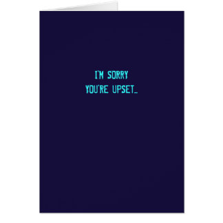 Sarcástico eu sou cartão pesaroso da desculpa (as