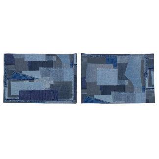 Sarja de Nimes azul Shibori dos retalhos de Boro