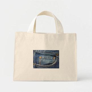 Sarja de Nimes - bolso azul de Jean Bolsas De Lona