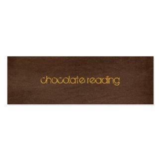 sarja de Nimes castanho chocolate Cartão De Visita Skinny
