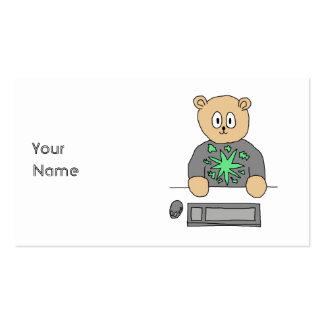 Sat no teclado de computador cartão de visita