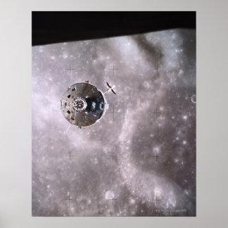 Satélite que orbita no espaço impressão