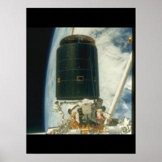 Satélite. (satélite; earth_Space Poster