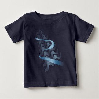 Satin. abstrato camiseta para bebê