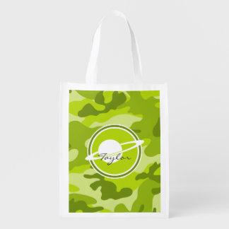 Saturn camo verde-claro camuflagem sacola ecológica para supermercado