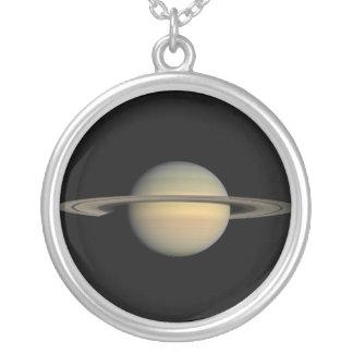 Saturn Colar Banhado A Prata
