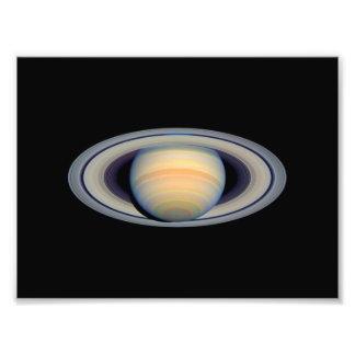 Saturn telescópio de Hubble Impressão De Foto