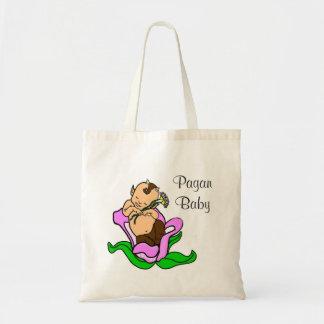 Satyr pagão do bebê em uma flor bolsa tote