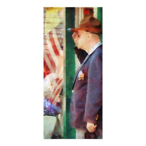 Saudando a bandeira panfleto informativo