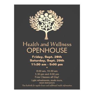 Saúde e bem-estar da árvore da prosperidade do our panfleto personalizado