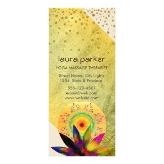 Saúde holística cura da aguarela da flor de Lotus 10.16 X 22.86cm Panfleto