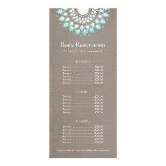 Saúde natural azul de Lotus e tabela de preços do 10.16 X 22.86cm Panfleto