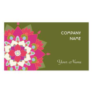 Saúde natural vibrante e bem-estar de Lotus Cartão De Visita